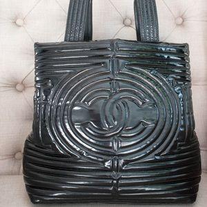 Chanel COCO Ming Patent black handbag - pre-owned